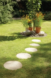 Round stepping stone - Cream Blend